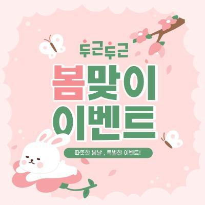 핑크 봄 토끼 이벤트